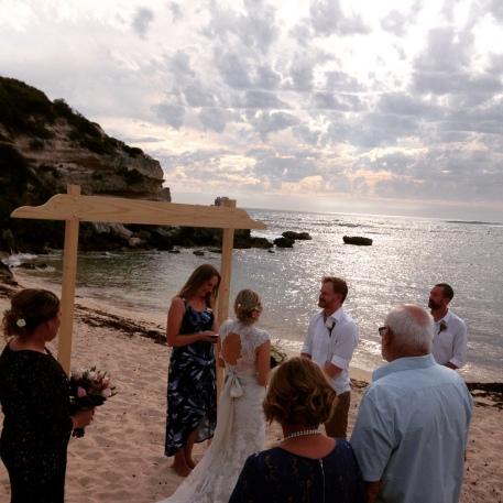 Barefoot Beach Wedding Margaret River - Margaret River Celebrant Wendy Grace Hendry