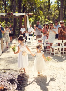 The Arrival of the Bridal Party - photo by Kendra Benson Photography