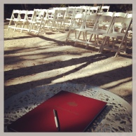 Set up and ready at the Bush Chapel - photo by Wendy Grace Hendry