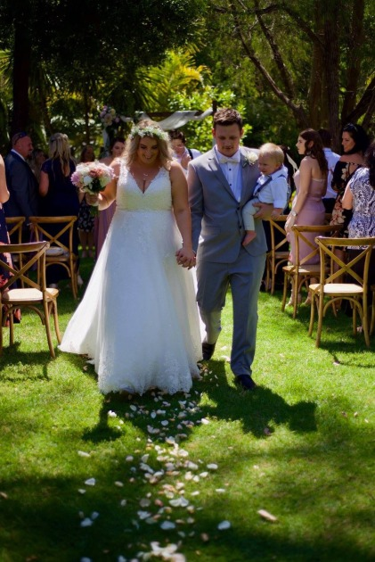 J&B - walk up the aisle married - WGH Celebrant