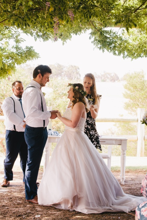 Bridgetown Gardens Wedding - telling their story - photo by Victoria Baker Photography