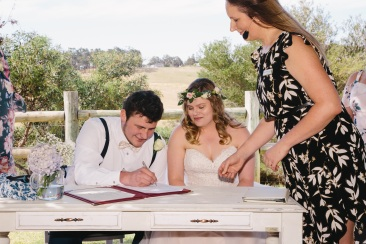 Signing the Register - photo by Victoria Baker Photography