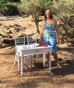 Wendy Grace Hendry - Margaret River Wedding Celebrant - Setting up