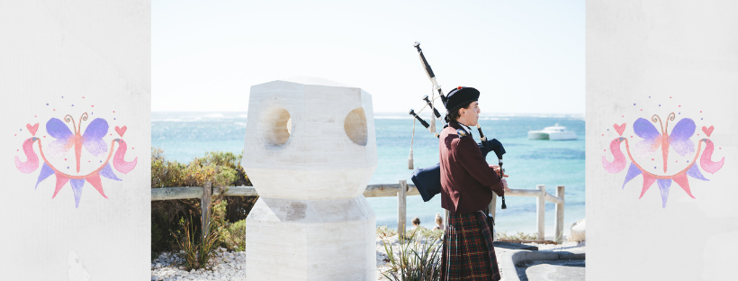 Bagpipes Over Gnarabup Beach