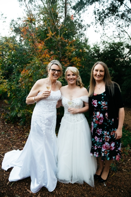 With the Brides - photo by Kelly Harwood Photography