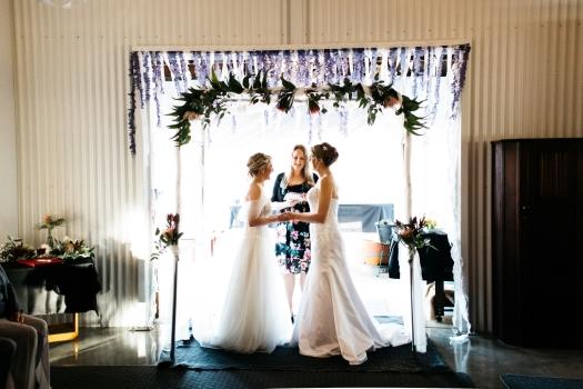 Rosa Brook Wedding - Photo by Kelly Harwood