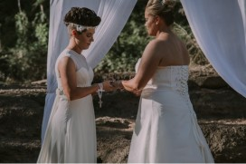 Exchanging Rings - photo by April Loves Arnold