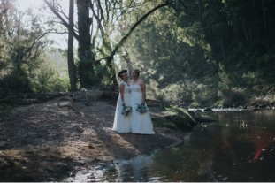 Brides by the River - photo by April Loves Arnold