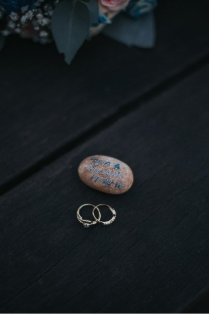 River Stone and Rings - photo by April Loves Arnold