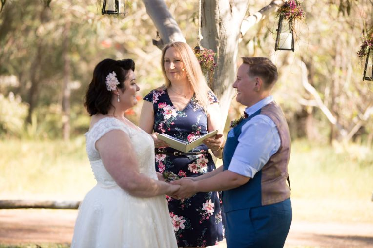 Erin and Kate Myalup Pines Wedding - photo by Red Leopard Photography