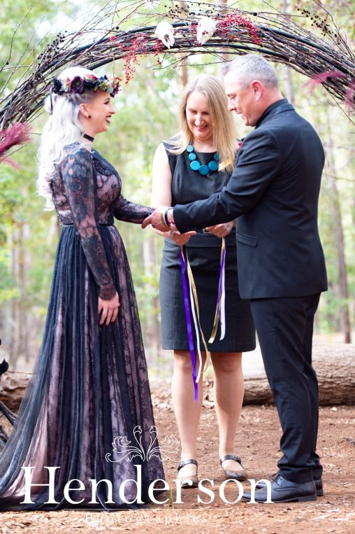 Erin and Greg Handfasting Wendy Grace Hendry Celebrant