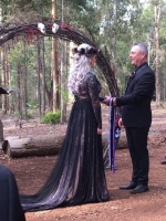 Erin and Greg Handfasting Donnelly River Wedding - photo by Henderson Photography