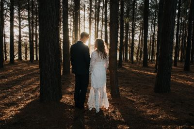 Kelly and Hayden in the magic light - photo by Freedom Garvey Photography