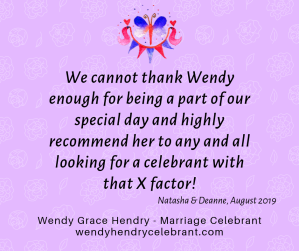 Review Wendy Grace Hendry - Celebrant N and D