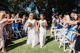 Emma and Susan's Just Married Walk at Silversprings Cottages - photo by Dian Sarah Photography